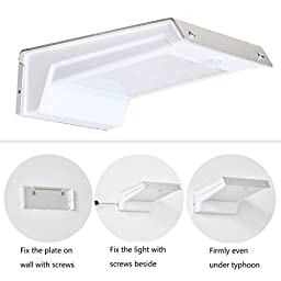 collee Waterproof 20 LED Solar Powered Motion Sensor Security Light with Dim Light Mode Auto-On/Off for Outdoor Porch Patio Garden Path Home Driveway Yard