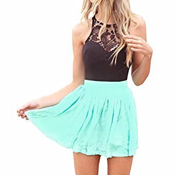 72645f2846c2 SUNNOW Womens Sleeveless Lace Patchwork A Line Short Mini Casual Dress