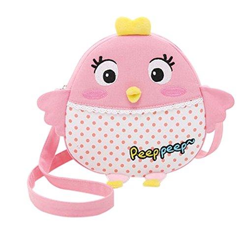 Nette Kind-Schulter-Beutel, Mädchen-Handtasche, [Rosa, Küken]