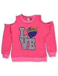 Pink Velvet Little Girls' Toddler Cold Shoulder Sweatshirt