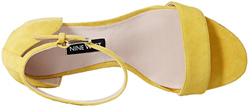 Sandal West Nine Heeled Suede Women's Suede Frostbite Yellow q77dXrRwg