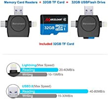 Amazon.com: Lector de tarjeta Micro SD 4-en-1, marceloant TF ...