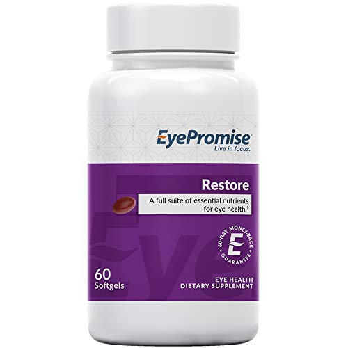 EyePromise Restore Supplement - Complete Macular Health Formula with Zeaxanthin & Lutein for Ocular Nutrition (Best Eye Supplements For Diabetics)