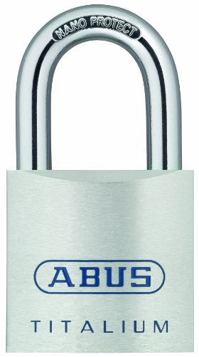 ABUS 80TI/50 KD C Titalium Aluminum Alloy Keyed Different Padlock 2-Inch with 5/16-Inch Diameter Nano Protect Steel Shackle
