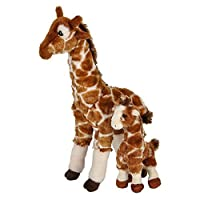 """Adventure Planet Birth of Life Giraffe with Baby Plush Toy 14.5"""" H"""