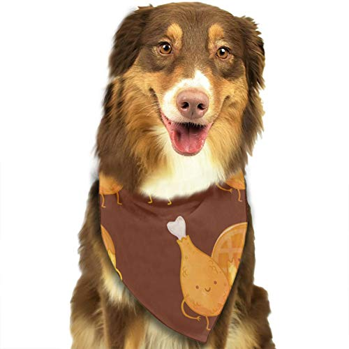 MODREACH Bandana-Washable and Adjustable Pet Triangle Scarf Bibs Chicken Waffles Accessories for Small Medium Large Dogs/Cats ()