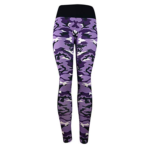 Homeparty Women's Fashion Workout Leggings Fitness Sports Gym Running Yoga Athletic Pants Purple]()