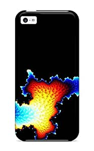 DeniseMA Scratch-free Phone Case For Iphone 5c- Retail Packaging - Fractal Abstract Other