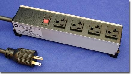 Hammond Manufacturing 1589H4G1 20 AMP POWER BAR, 4 OUTLETS: Amazon ...