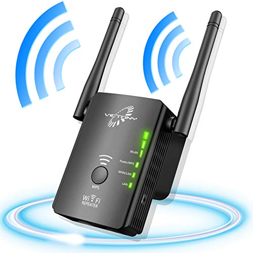(VICTONY WiFi Ranger Extender with High Gain Dual Band Antennas Wireless Network Extender 2.4GHz Speed up to 300Mbs WiFi Repeater , Supports Repeater/Access Point/Router Mode)