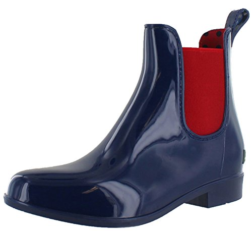 Lauren Ralph Lauren Kvinders Tally Regn Støvler Moderne Flåde / Rl Lyse Rødt Fast Pvc / Elastik NIs7Z8Fr