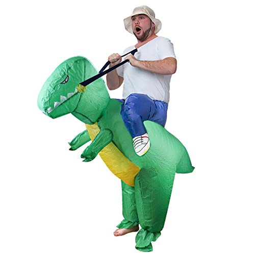 EasGear Inflatable Costumes for Child,Green Dinosaur Inflatable Fancy Dress Costume,Halloween Costume(Child) (Adult)