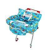 UNKU Multifunctional 2-in-1 Shopping Push Cart Cover High Chair Cover for Baby & Infant - Marine Blue