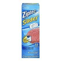 Ziploc Slider Bags Freezer, Medium