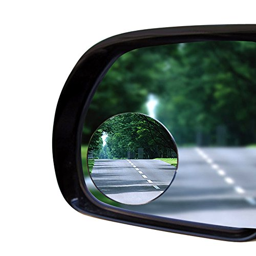 Carperipher 55mm 360 Degree Adjustable Rounded Rearview Blind Spot Mirror, Pack of 2