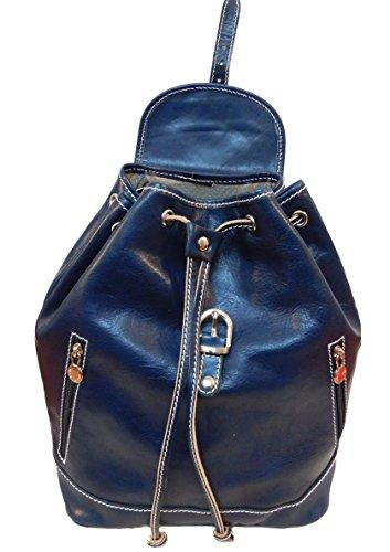 Bottega Carele - Bolso mochila  de Piel para mujer azul turquesa