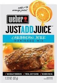 Caribbean Marinade - Weber Caribbean Jerk Marinade Mix, 1.12 oz. Packets (4 Pack) Just Add Juice!