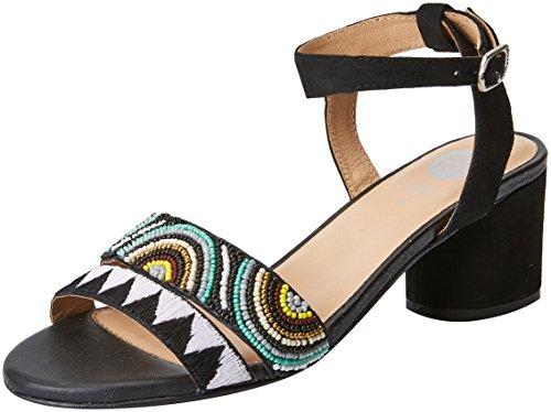 Abierta Zapatos Gioseppo Para Con Tacón Mujer 45276 De Negro Punta black qfxgYA