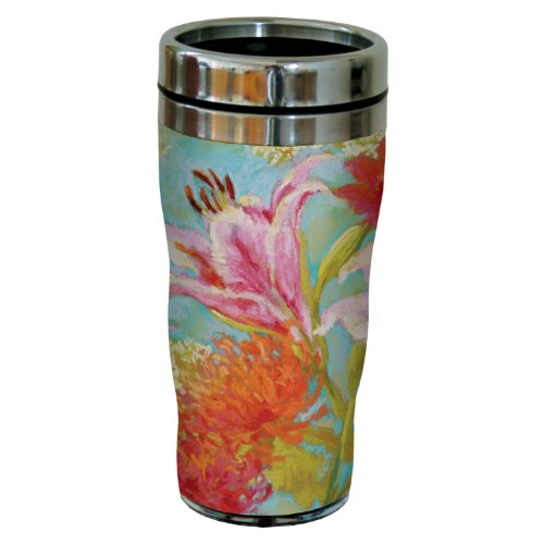 Tree-Free Greetings sg23729 Spring in Your Step Floral by Nel Whatmore Travel Tumbler, 16-Ounce