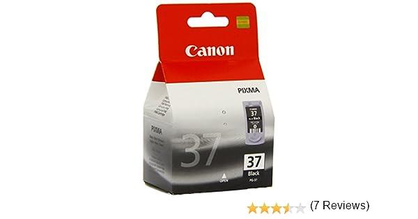 Canon PG-37 Cartucho de tinta original Negro: Amazon.es: Oficina y papelería