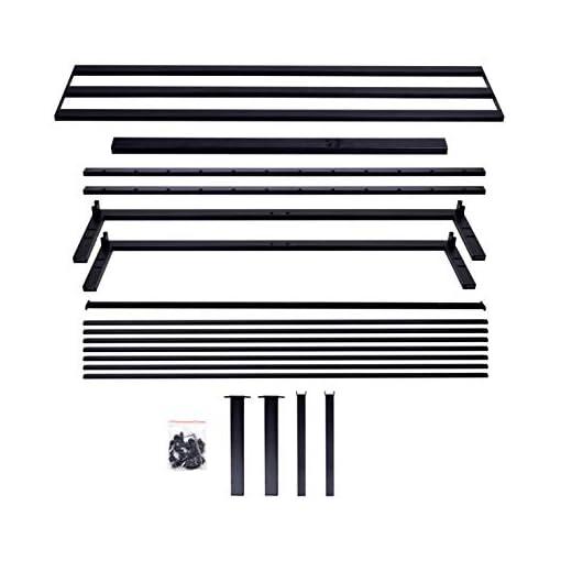 Bedroom AMBEE21 – Modern Full Platform Metal Bed Frame with Headboard: (14 inch) – Black Heavy Duty Iron Metal Bed Frame, Sturdy… modern beds and bed frames