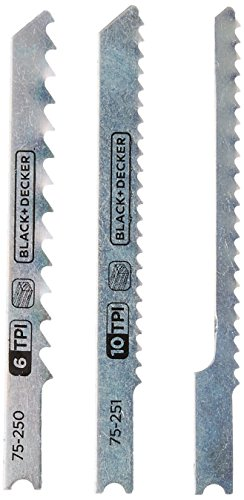 Black & Decker 75-530 Jig Saw Blades (5 - Decker Black Jigsaw Blades