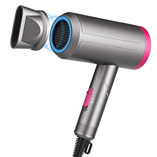 Paubea Radiation Free Hair Dryer - Folding Low Noise Small Ionic Infrared Ceramic Blow Dryer, Best for Kids, Pregnancy, Short Hair, 1200W