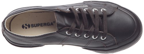 Superga 2750 FGLU S001TT0 - Zapatillas de cuero unisex Marrón (Choco)