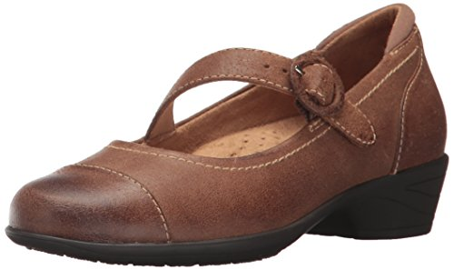 Softwalk Womens Chatsworth Mary Jane Flat  Luggage  7 5 W Us