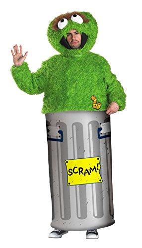 [50070 ((Teen 38-40)) Oscar the Grouch Sesame Street Licensed Adult Costume] (Ernie From Sesame Street Costume)