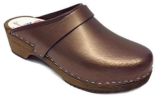 AM-Toffeln - Holz Clogs 100 in Bronze Bronze