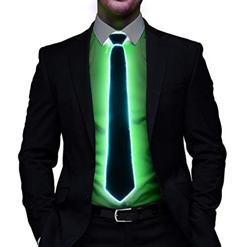 Light Up Bow Tie LED El wire Tie for Party Christmas Rave Party Gift -