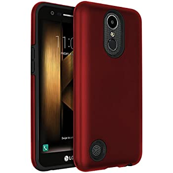 sale retailer b912e d95d0 LG Harmony Case,LG K20 V Case,LG K20 Plus Case,LG V5 Case,LG K10 2017  Case,SENON Hybrid Dual Layer Shock-Absorption Protective Cover Shell Red