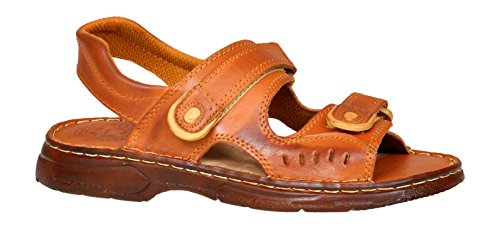 Scarpe Modello Bufalo di Vera Sandali Cognac in Pelle 812 Ortopedici Confortevoli Uomo YTwxngzw8