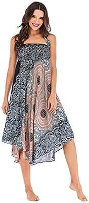 Falda larga hippie bohemia gitana de flores bohemias con cintura ...