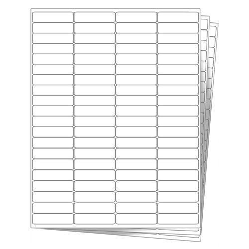 (2000 EcoSwift Shipping Labels 1 3/4 x 1/2 inches Mailing Address Return Inventory Blank White Self Adhesive for Laser Inkjet Printer 1.75 x 0.5)