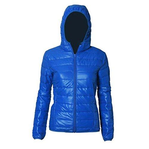 Abrigo de mujer GillBerry Invierno cálido Color del caramelo Delgado Slim Down Jacket Azul