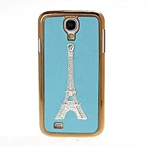 DUR Eiffel Tower Pattern Litchi Texture Plating Skinning Case for Samsung Galaxy S4 i9500 , Pink
