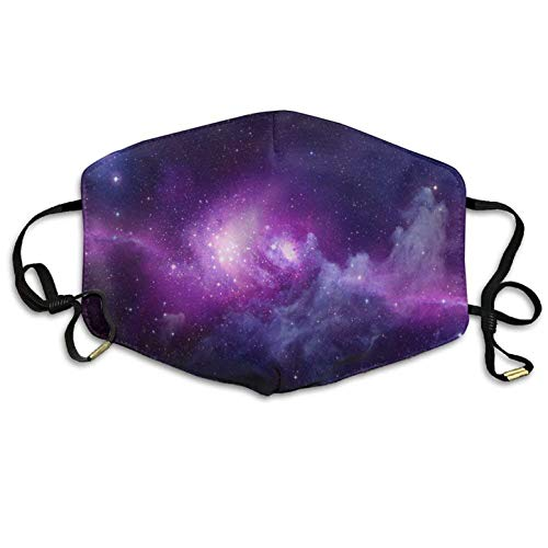 Galaxy Space Purple Star Sky Printed Mouth Masks Unisex Anti-dust Masks Reusable Face Mask