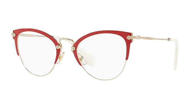 ecca1afd66 Image Unavailable. Image not available for. Color  Miu Miu MU50QV - VYI1O1 Eyeglasses  Frame ...