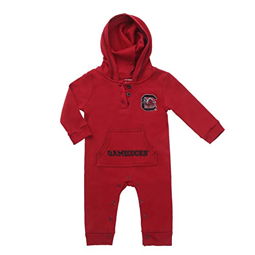 South Carolina Gamecock Baby and Toddler Hooded Romper (9-12) Red