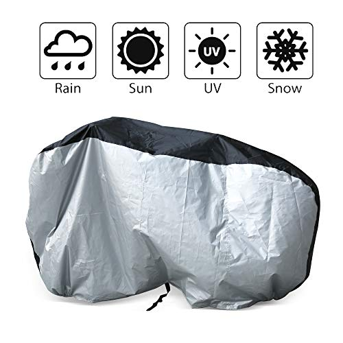 LotFancy Bike Cover for Outdoor Storage Waterproof Bicycle Covers Heavy Duty Ripstop Material Rain UV Snow Dust Wind Proof for Mountain Road Bike Electric Exercise Sport Bike City Bike