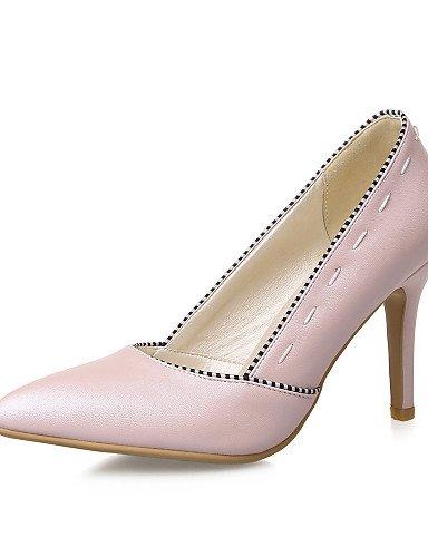 GGX  Damen-High Heels-Büro    Lässig-PU-Stöckelabsatz-Absätze   Spitzschuh-Blau   Rosa    Weiß 6cd68f