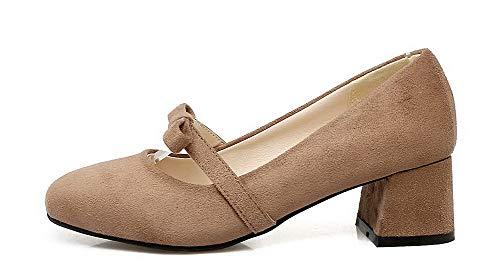 Tirare Ballet Chiusa Cachi Donna AllhqFashion Punta Flats FBUIDD006663 Puro qTacU6p5