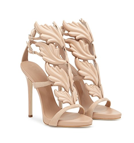 Sandals Toe Heel Pumps with Metal apricot Slings Heels Party Wings Pump Shoes Shoes Sandals Dance Party Ms 5xvwYAqB