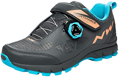 Northwave Corsair Women's MTB Trekking Cycling Shoes Grey/Orange/Blue 2020
