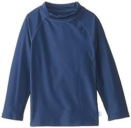 i play. Baby Long Sleeve Rashguard Shirt, Navy, 18 Months