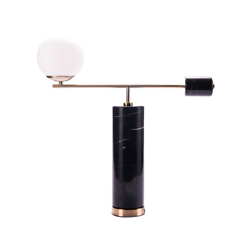 CQ ポストモダンな大理石のテーブルランプ大気のアートベッドルームベッドサイドランプ暖かい豪華なリビングルームランプ B07DFGQ9YP