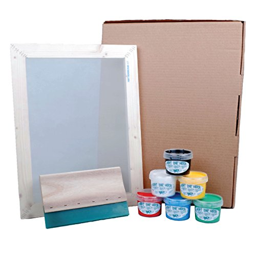Hunt The Moon Screen Printing Kit, Wooden, Large A3 -