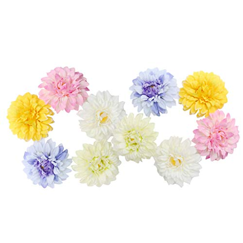 10pcs Silk Chrysanthemum Flowers Head DIY for Wedding Home Embellishment Crafts |Color - Muliti|]()